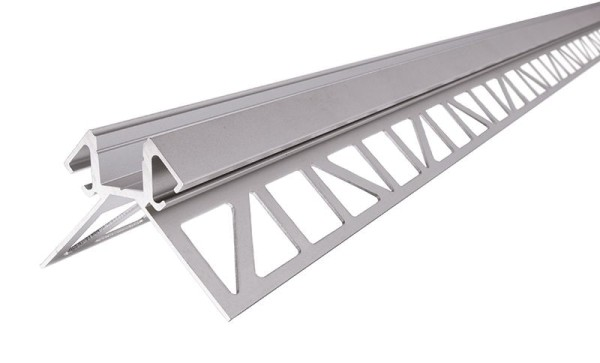 Reprofil Profil, Fliesen-Profil Ecke außen EV-02-08, Aluminium, Silber-matt eloxiert, 1250mm