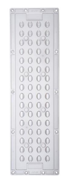 Deko-Light Zubehör, Linear Highbay Lense 70°, Kunststoff, farblos satiniert, 30/70°, 290x86mm