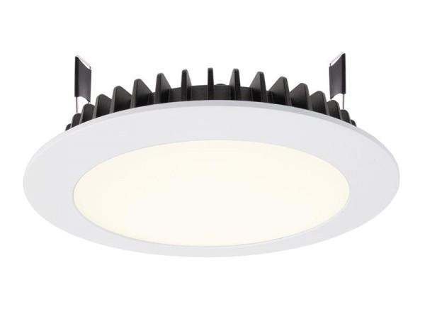 Deko-Light Deckeneinbauleuchte, LED Panel Round III 20, Aluminium Druckguss, weiß, Neutralweiß, 100°