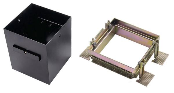 EINBAURAHMEN 1 FRAMELESS, für AIXLIGHT PRO, eckig, schwarz, L/B/H 15,5/15,5/18,5 cm