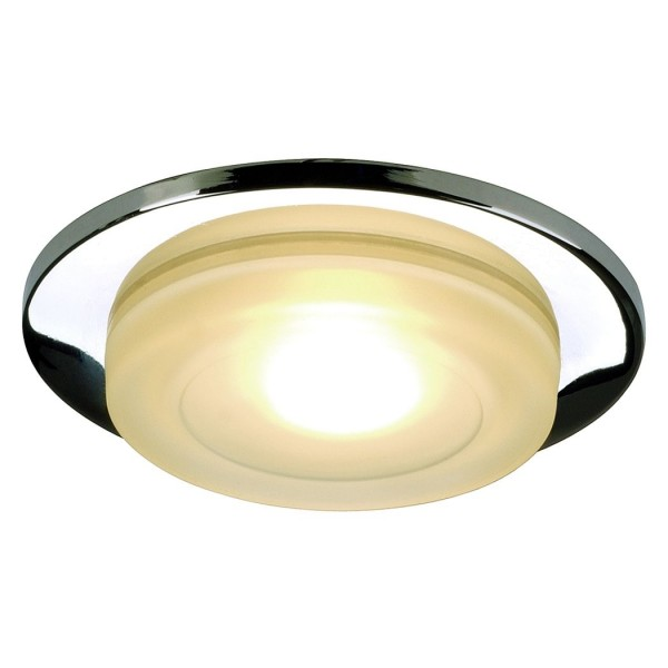 BAGUS IP65 Downlight, rund, chrom, satiniertes Glas, MR16, max. 35W
