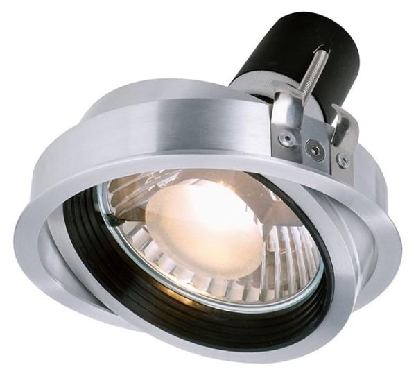 Kapego Deckeneinbauleuchte, Epart Einsatz PAR 30, exklusive Leuchtmittel, Silber, gebürstet, E27