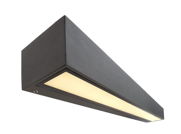 Deko-Light Wandaufbauleuchte, Linear I Single, Aluminium Druckguss, dunkelgrau, Warmweiß, 110°, 18W