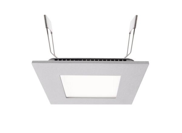 Deko-Light Deckeneinbauleuchte, LED Panel Square 8, Aluminium Druckguss, silberfarben, Neutralweiß
