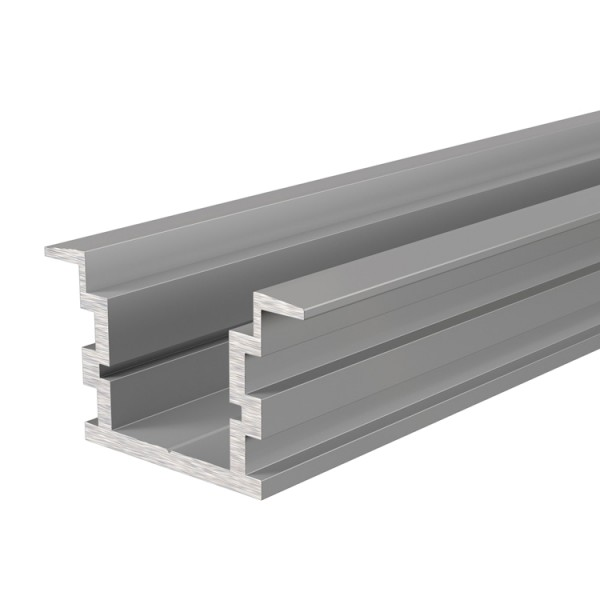 Reprofil, IP-Profil, T-hoch ET-05-15 für LED Stripes bis 16,3 mm, Silber-matt, eloxiert, 2000 mm