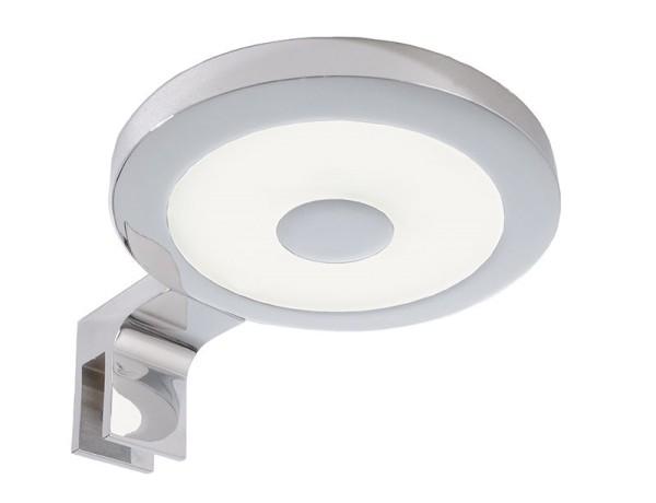 Deko-Light Möbelaufbauleuchte, Spiegel Rund II, Aluminium, silberfarben Chrom, Neutralweiß, 120°, 4W