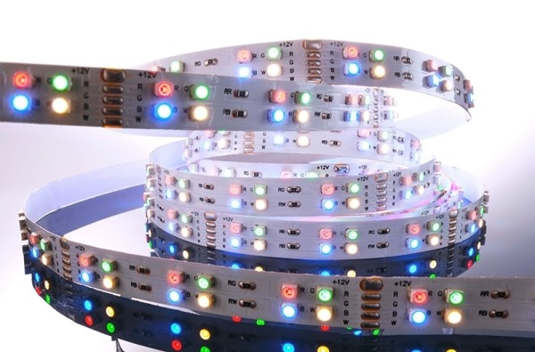 Flexibler LED Stripe IP 20, 12V, 5 m, RGB-WW-144