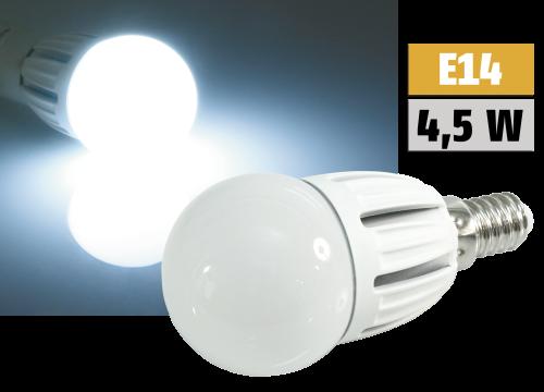 E14 LED Globelampe, 4,5W SMD LED, 6000K