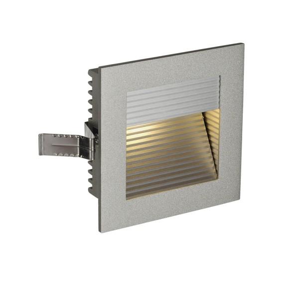 FRAME CURVE, Einbauleuchte, LED, 3000K, eckig, silbergrau, inkl. Blattfedern
