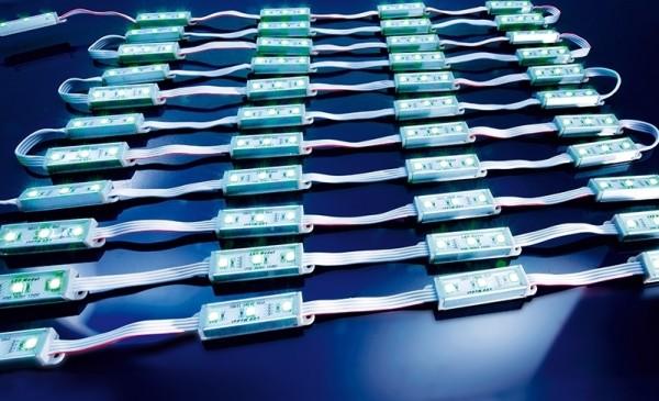 LED Modul IP 55, 12V, 50 Module mit je 3x 3 in 1