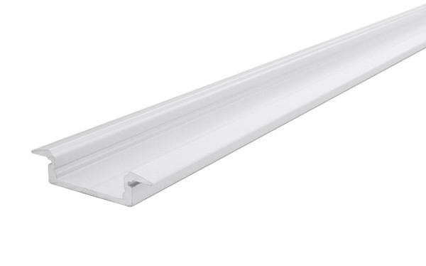 Reprofil Profil, T-Profil flach ET-01-15, Aluminium, Weiß-matt, 2000mm