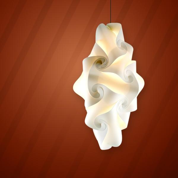 WISE ART 25, Faltleuchte, cremeweiß, Ø 25 cm, Bausatz