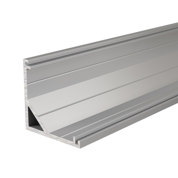 Reprofil, Eck-Profil AV-03-12 für LED Stripes bis 13,3 mm, Silber-matt, eloxiert, 1250 mm