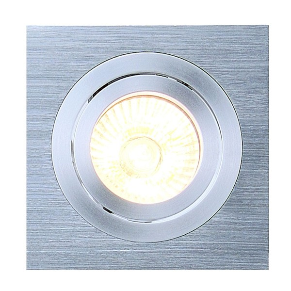 NEW TRIA I GU10 SQUAREDownlight, alu brushed, max. 50W, inkl. Clipfedern