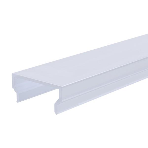 Reprofil, Abdeckung H-01-15, Kunststoff, milchig 40% Transmission, Länge: 2000 mm