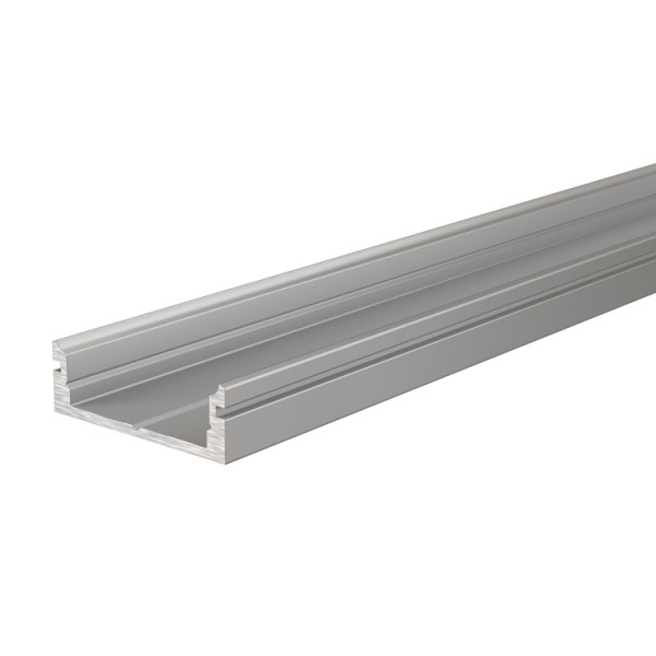 Reprofil, U-Profil flach AU-01-15 für LED Stripes bis 16,3 mm, Silber-matt, eloxiert, 1000 mm