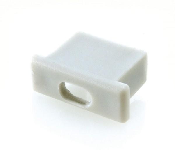 Endkappe Micro mit Kabelausgang, Grau