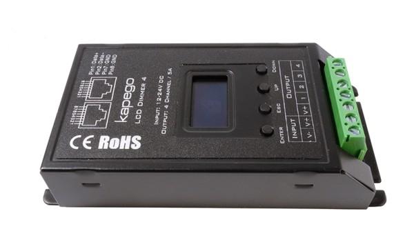Deko-Light Controller, OLED Dimmer 4, Metall, Schwarz, 480W, 12-24V, 116x57mm