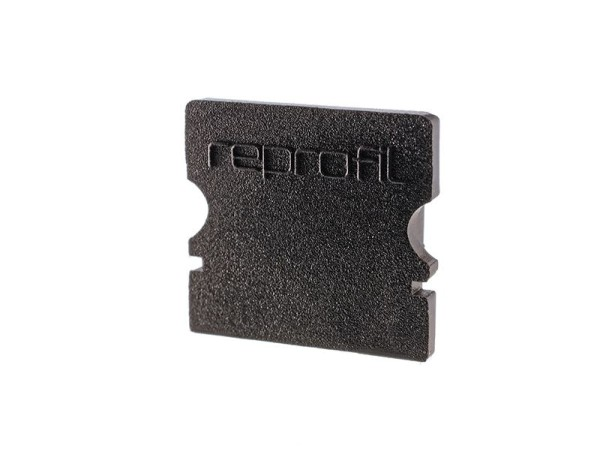 Reprofil Profil Zubehör, Endkappe P-AU-02-10 Set 2 Stk, Kunststoff, Schwarz, 16x6mm