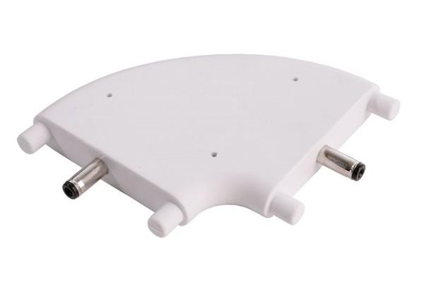 Deko-Light Zubehör, Winkelverbinder Mia flach, weiß, Kunststoff, Weiß, 24V, 47x38mm