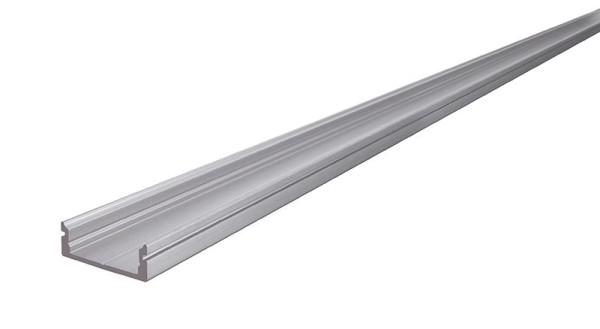 Reprofil Profil, U-Profil flach AU-01-15, Aluminium, Silber-matt eloxiert, 2000mm