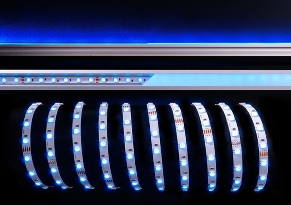 Deko-Light Flexibler LED Stripe, 5050-60-24V-RGB-3m-Nano, Kupfer, Weiß, RGB, 120°, 42W, 24V, 3000mm