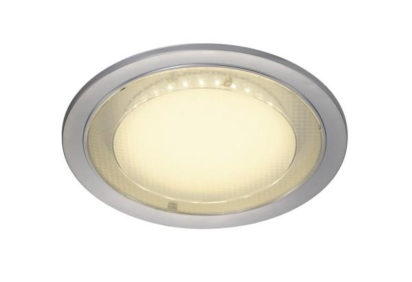 ECO LED, Einbauleuchte, LED, 3000K, rund, silbergrau