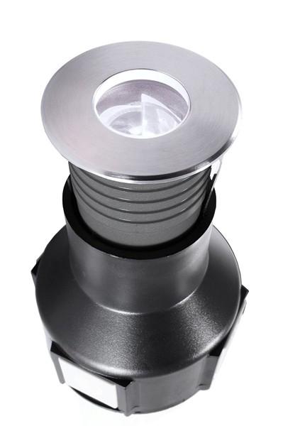 KapegoLED Bodeneinbauleuchte, Easy Round V CWA, inklusive Leuchtmittel, asymmetrisch, Kaltweiß