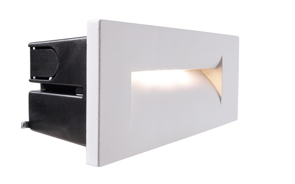 Deko-Light Wandeinbauleuchte, Yvette III, Aluminium Druckguss, weiß, Warmweiß, 42°, 8W, 230V