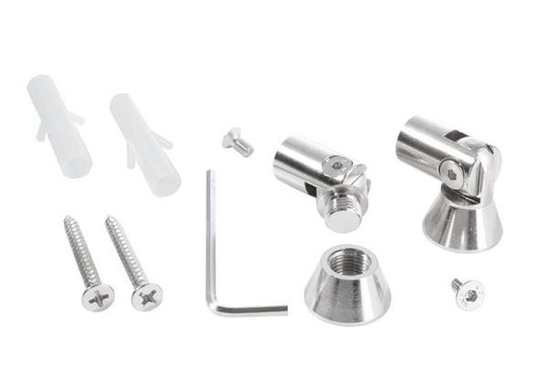 Reprofil Profil Zubehör, Universal Halteclip Aufnahme (schwenkbar) Set 2 Stk, Metall, Silber