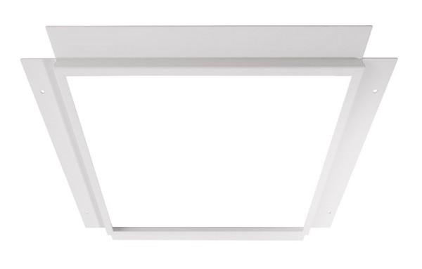 Deko-Light Zubehör, Einlegerahmen für Gips 30x30, Metall, weiß, 374x374mm