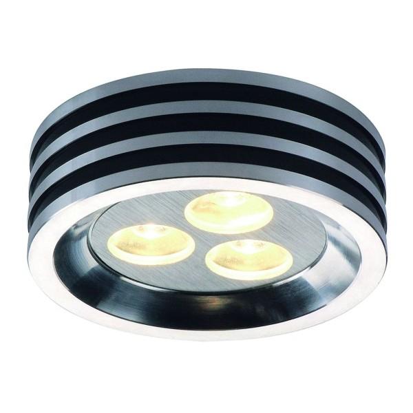 ZEBLED ROUND 3 Downlight, alu gebürstet, 3x1W LED, warmweiss, 3200K