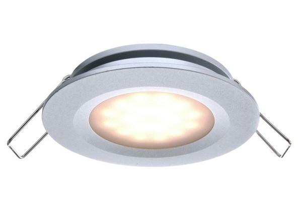 Deko-Light Deckeneinbauleuchte, Aluminium Druckguss, silberfarben, Warmweiß, 110°, 2W, 6-7V, 350mA