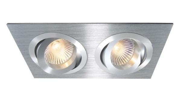 Deko-Light Deckeneinbauring, Aluminium, silberfarben gebürstet, 50W, 12V, 175x92mm