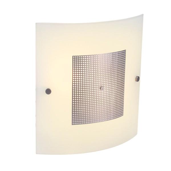 DARIUS Wand- und Deckenleuchte silbergrau, 2xE14 ESL, max. 40W