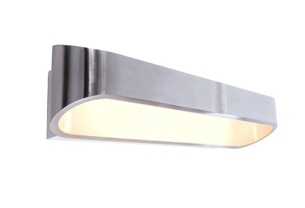 Deko-Light Wandaufbauleuchte, Grand Elevato, Aluminium Druckguss, silberfarben poliert, Warmweiß