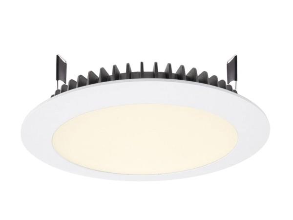 Deko-Light Deckeneinbauleuchte, LED Panel Round III 26, Aluminium Druckguss, weiß, Warmweiß, 100°