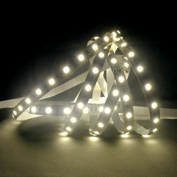 Flexibler LED Strip, 5m, 5050, SMD, Kaltweiß, 12V DC, 10,80 W/m, IP65