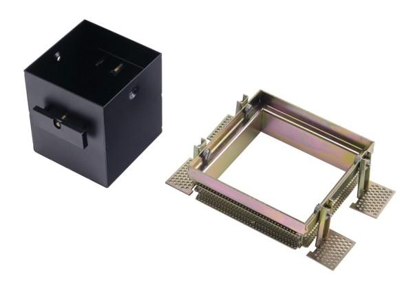 EINBAURAHMEN 1 FRAMELESS, für AIXLIGHT PRO, eckig, schwarz, L/B/H 10,2/10,2/10,5 cm