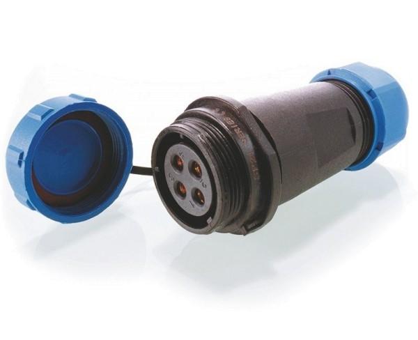 Deko-Light Kabelsystem, Weipu Buchse 4-polig, Kunststoff, 24V