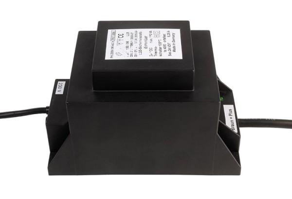 ABN Netzgerät, LED Sicherheitstransformator 150VA/24V DC, Kunststoff, Schwarz Chrom, 150W, 24V