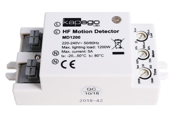 Deko-Light Controller, Bewegungssensor MD1200, Kunststoff, Weiß, 1200W, 230V, 75x42mm
