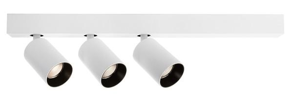 Deko-Light Deckenaufbauleuchte, Klara III, Aluminium, weiß matt, Warmweiß, 35°, 27W, 230V, 560x60mm