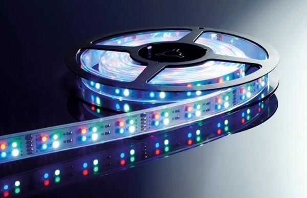 Flexibler LED Stripe IP65, 12V, 5 m Rolle, RGB +CW