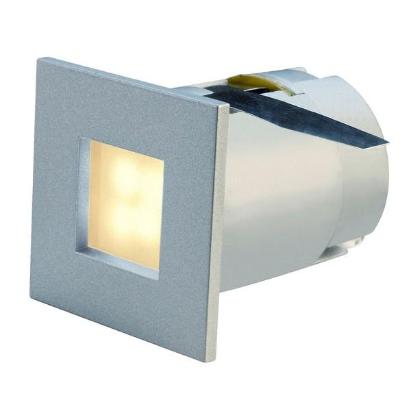 MINI FRAME LED Einbauleuchte, eckig, silbergrau, 0,3W, 4 LED, warmweiss