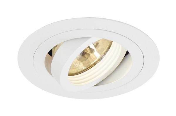 NEW TRIA 1, Einbauleuchte, einflammig, QR-C51, rund, weiß, max. 50W, inkl. Clipfedern