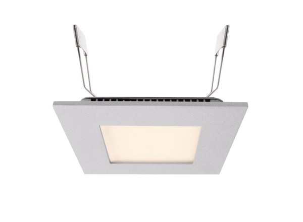 Deko-Light Deckeneinbauleuchte, LED Panel Square 8, Aluminium Druckguss, silberfarben, Warmweiß, 7W