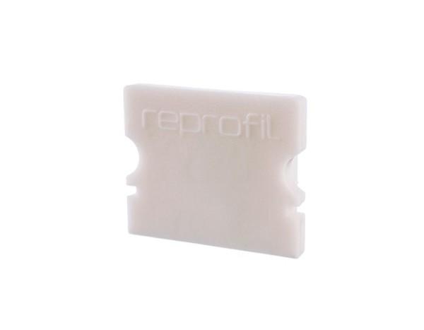 Reprofil Profil Zubehör, Endkappe P-AU-02-12 Set 2 Stk, Kunststoff, Weiß, 18x6mm