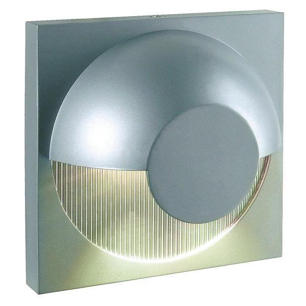 DACU LED Wandleuchte, eckig, silbergrau, 2x1W, 3000K