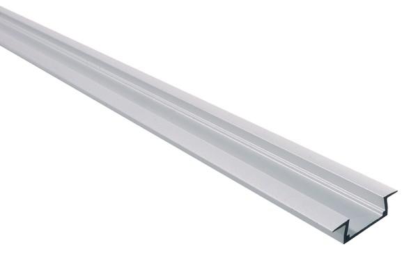 Micro-K, Silber-matt, eloxiert, 2000 mm